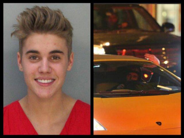 Justin Bieber arrested.